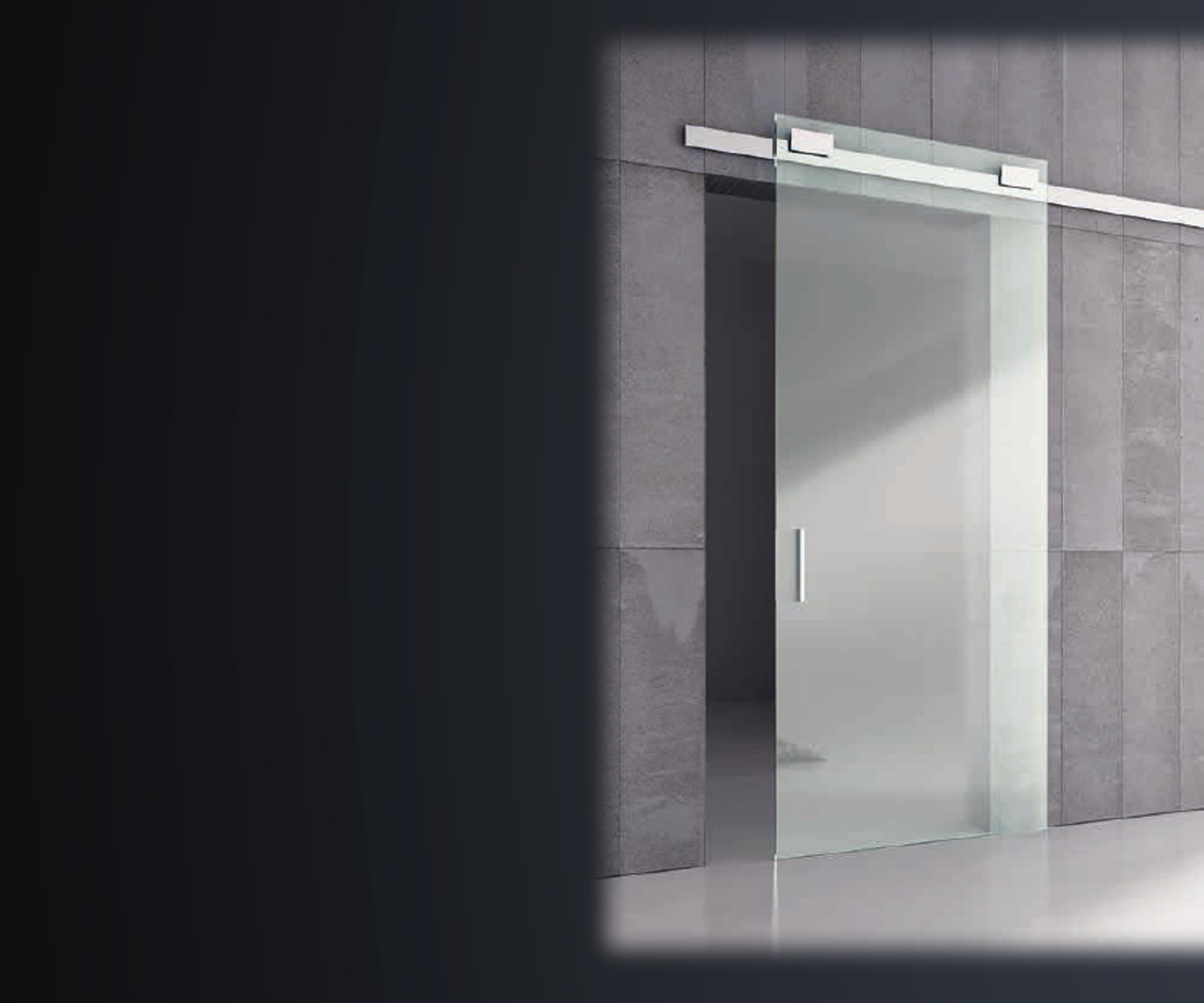 binari porte scorrevoli vetro